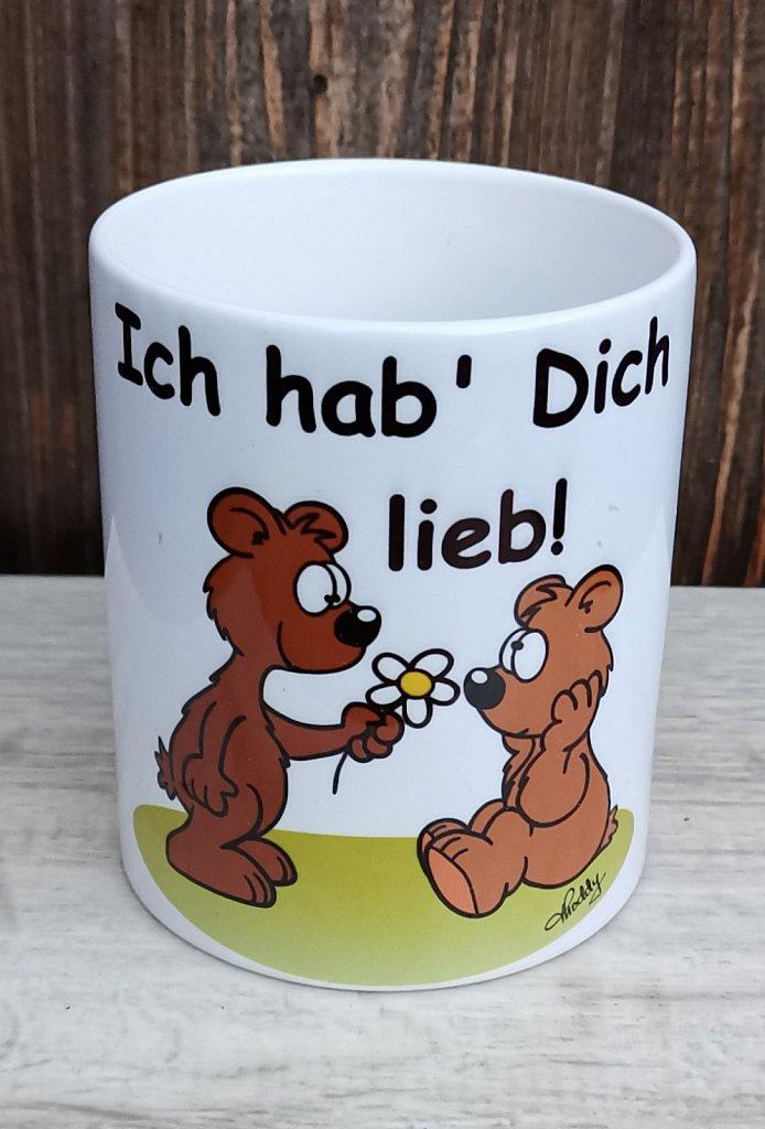 """Tasse Bärchen """"Ich hab' Dich lieb!""""  je 9,50 €"""