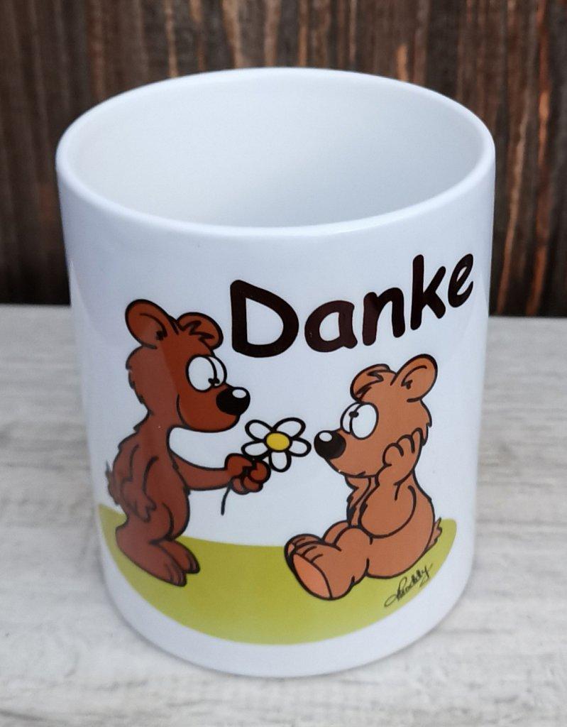 """Tasse (300 ml)  Bärchen """"Danke"""" je 9,50 €"""