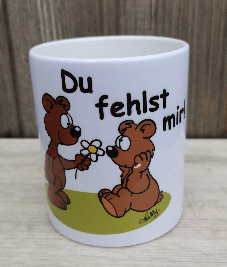"""Tasse (300 ml) Bärchen """"Du fehlst mir!"""" je 9,50 €"""