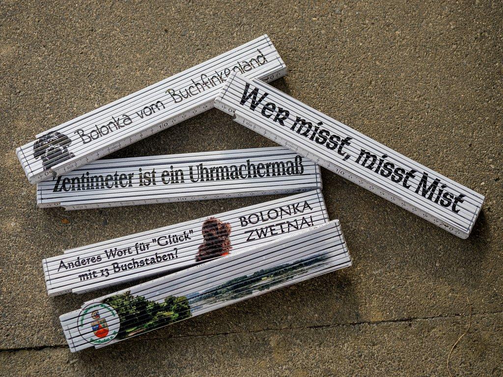 Zollstock mit Spruch/Motiv gerne auch mit Wunschmotiv je 12,50 €