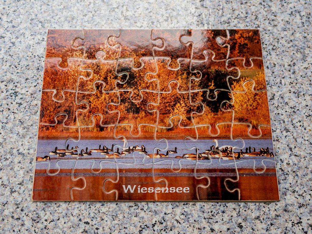"Kartonpuzzle ""Wiesensee"" rahmenlos 19 cm x 24 cm 30 Teile ,gerne auch mit Wunschmotiv je 14,50 €"
